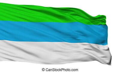 Isolated Provincia de Limon city flag, Costa Rica -...