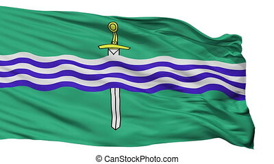 Isolated Ptbo city flag, Canada - Ptbo flag, city of Canada,...