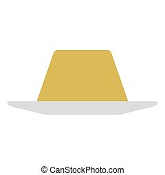 Isolated pudding on a white background