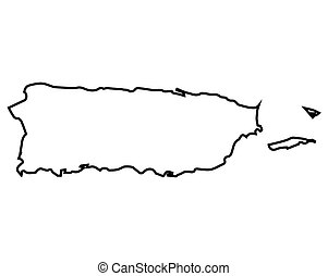 Isolated Puerto Rico map