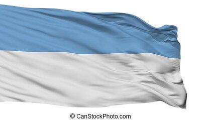 Isolated Puno city flag, Peru - Puno flag, city of Peru,...