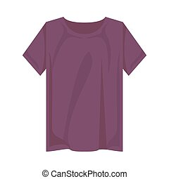 purple tshirt design, Cloth fashion style wear and store theme Vector illustration