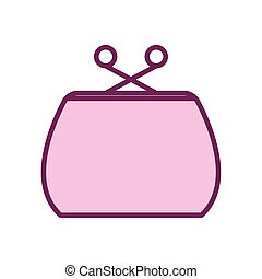 Isolated purse line and fill style icon vector design - ...