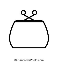 Isolated purse line style icon vector design - purse line ...