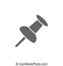 Isolated pushpin on a white background