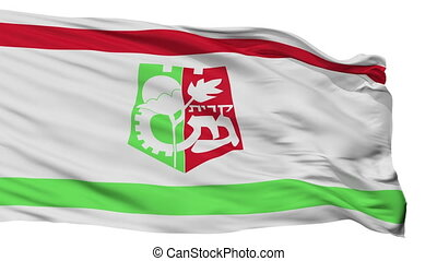 Isolated Qiryat Gat city flag, Israel - Qiryat Gat flag,...