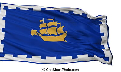Isolated Quebec City city flag, Canada - Quebec City flag,...