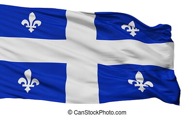 Isolated Quebec city flag, Canada - Quebec flag, city of...