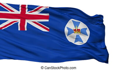 Isolated Queensland city flag, Australia - Queensland flag,...