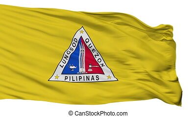 Isolated Quezon city flag, Philippines - Quezon flag, city...