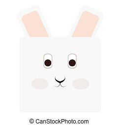 Isolated rabbit face