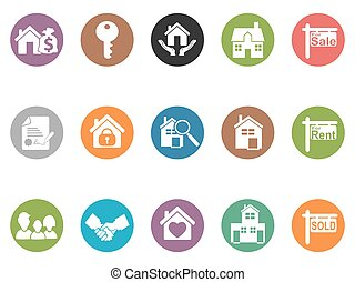 real estate button icons
