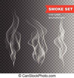 Isolated realistic cigarette smoke