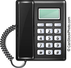 Isolated Realistic Vector Telephone