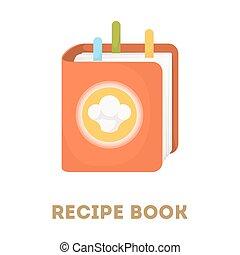 Isolated recipe book.