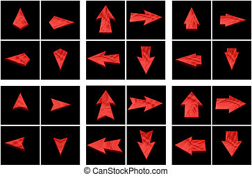 Isolated red arrows