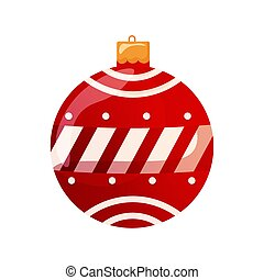 Isolated red ball icon