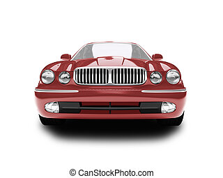 isolated red car front view