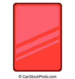 Isolated red card icon