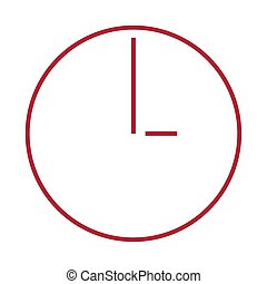 Isolated red clock icon