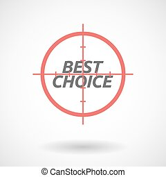 Isolated red crosshair icon with the text BEST CHOICE