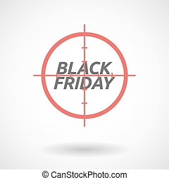 Isolated red crosshair icon with    the text BLACK FRIDAY