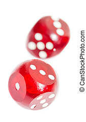 Isolated red dices