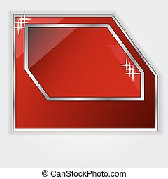 Isolated red frame for your text vector
