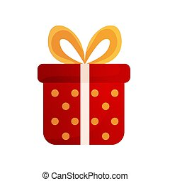 Isolated red gift icon
