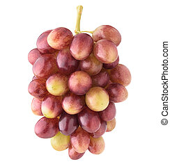 Isolated Red Globe grapes