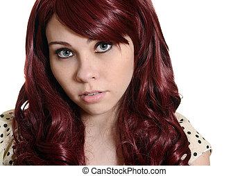 red head teen girl portrait