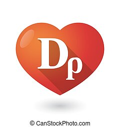 Isolated red heart with a drachma currency sign
