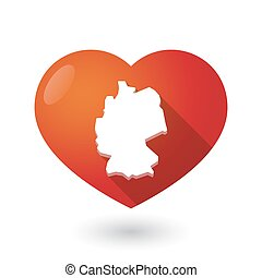 Vector Clipart Of Heart Shape With Germany Icons Heart Shape - Germany map shape
