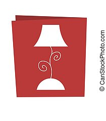 Isolated red lamp symbol. Vector illustration on white background.
