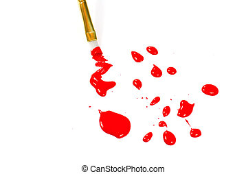 Red Paint with brush