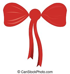 Isolated red ribbon