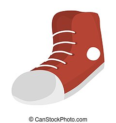 Isolated red shoe icon vector design - red shoe icon design...