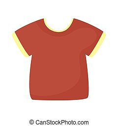 Isolated red tshirt icon vector design - red tshirt icon ...