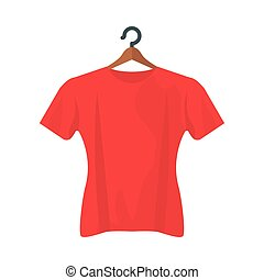 red tshirt design, Cloth fashion style wear and store theme Vector illustration