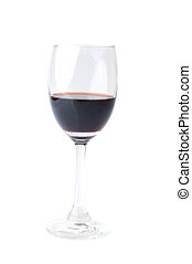 isolated red wine glass