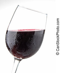 isolated red wineglass