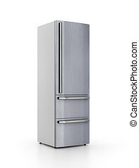 isolated refrigerator on white background. 3d illustration