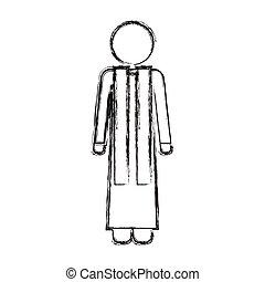 Isolated religion pastor design - Pastor icon. Religion god...