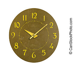 isolated retro and grunge clock dial