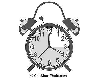 retro black alarm clock