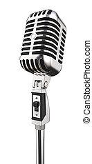 Isolated Retro Microphone.