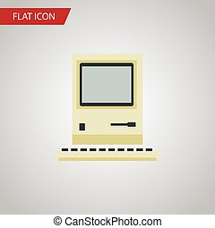 Isolated pc flat icon  computer vector element can be used for