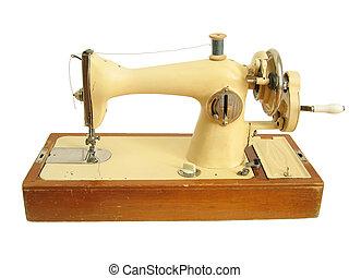 Isolated retro sewing machine