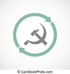 Isolated reuse icon with the communist symbol