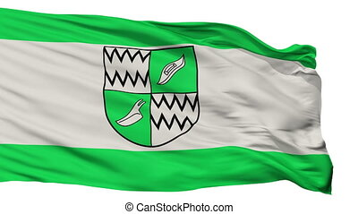 Isolated Rhede city flag, Germany - Rhede flag, city of...